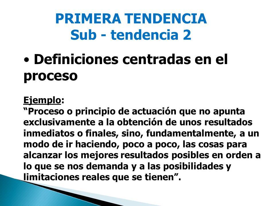 PRIMERA TENDENCIA Sub - tendencia 2