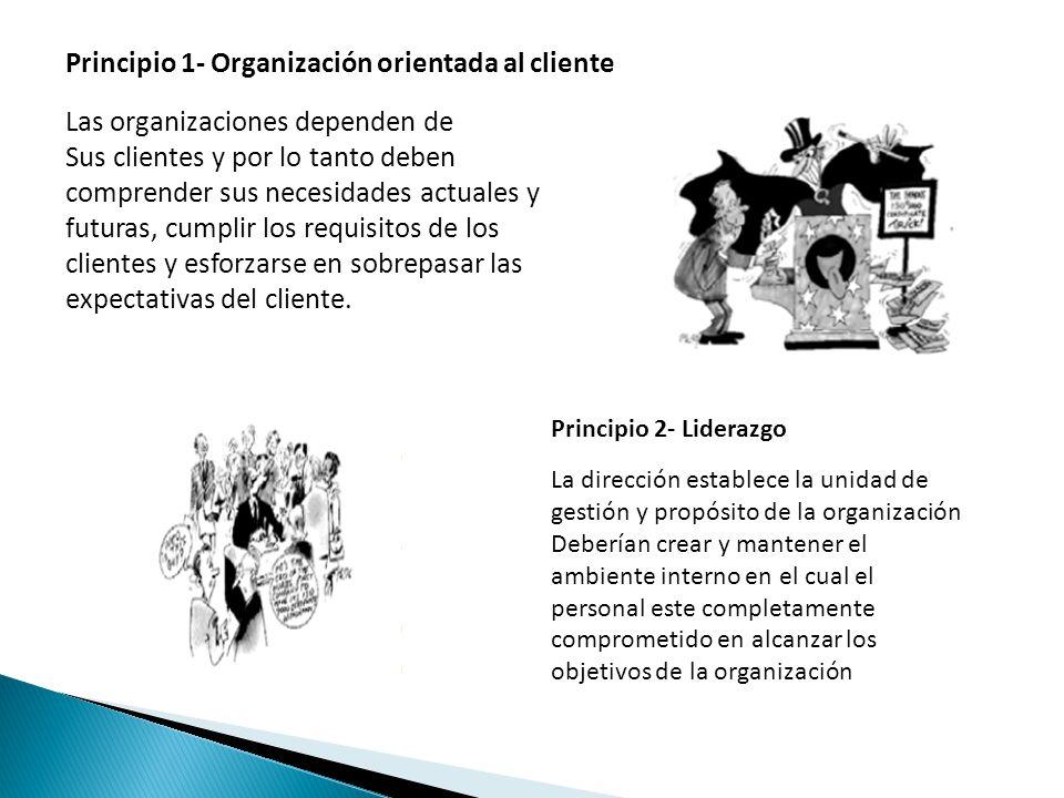 Principio 1- Organización orientada al cliente