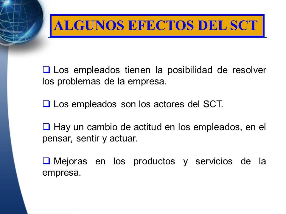 ALGUNOS EFECTOS DEL SCT