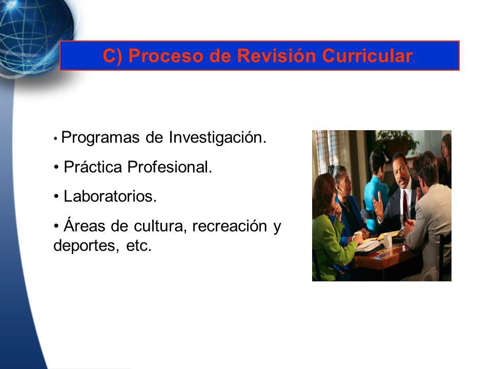 C) Proceso de Revisión Curricular.