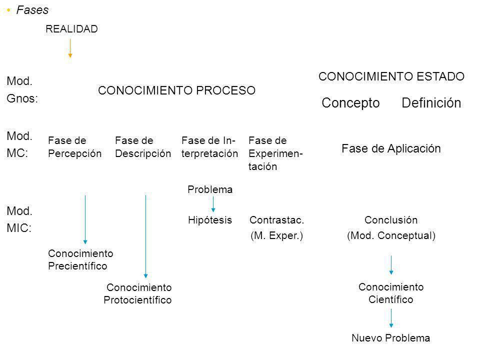 Concepto Definición Fases CONOCIMIENTO ESTADO Mod.