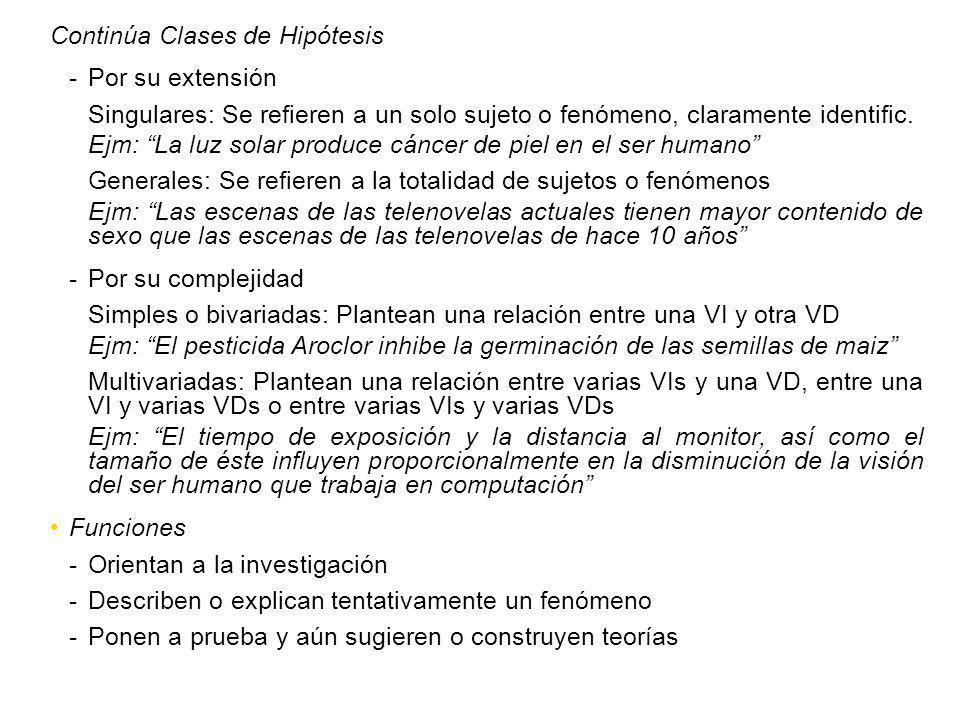 Continúa Clases de Hipótesis