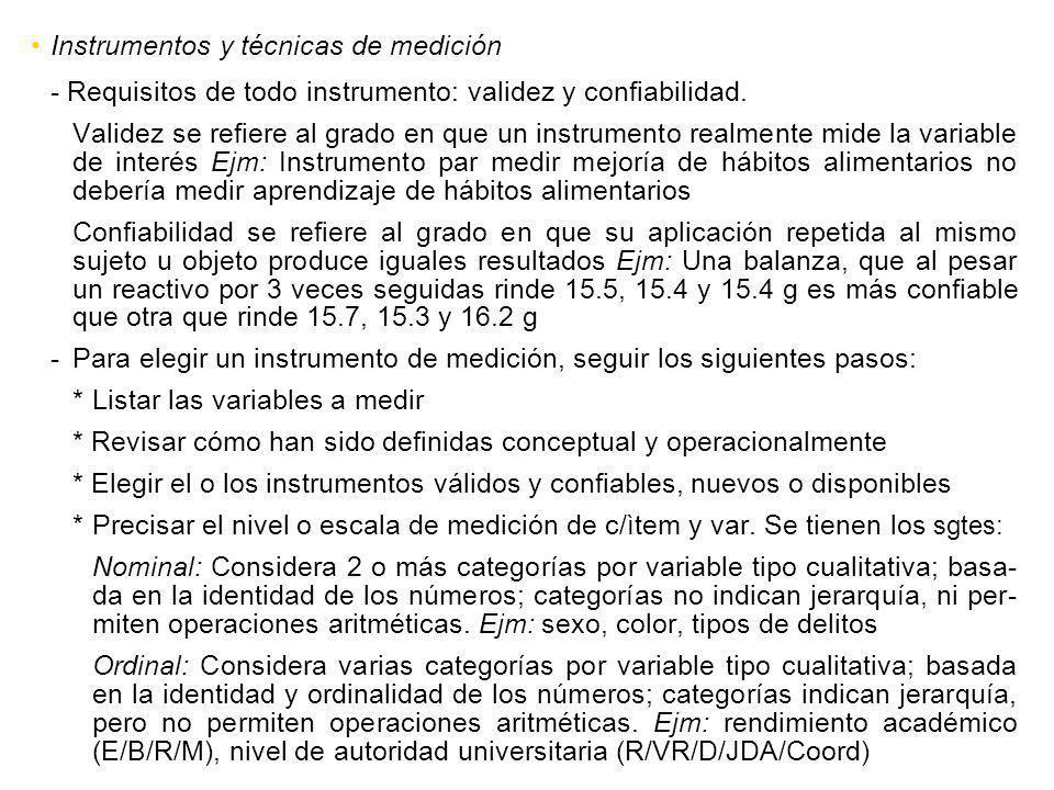 Instrumentos y técnicas de medición