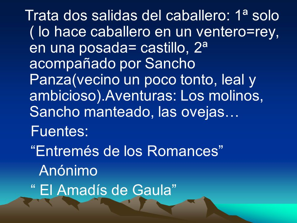 Entremés de los Romances Anónimo El Amadís de Gaula