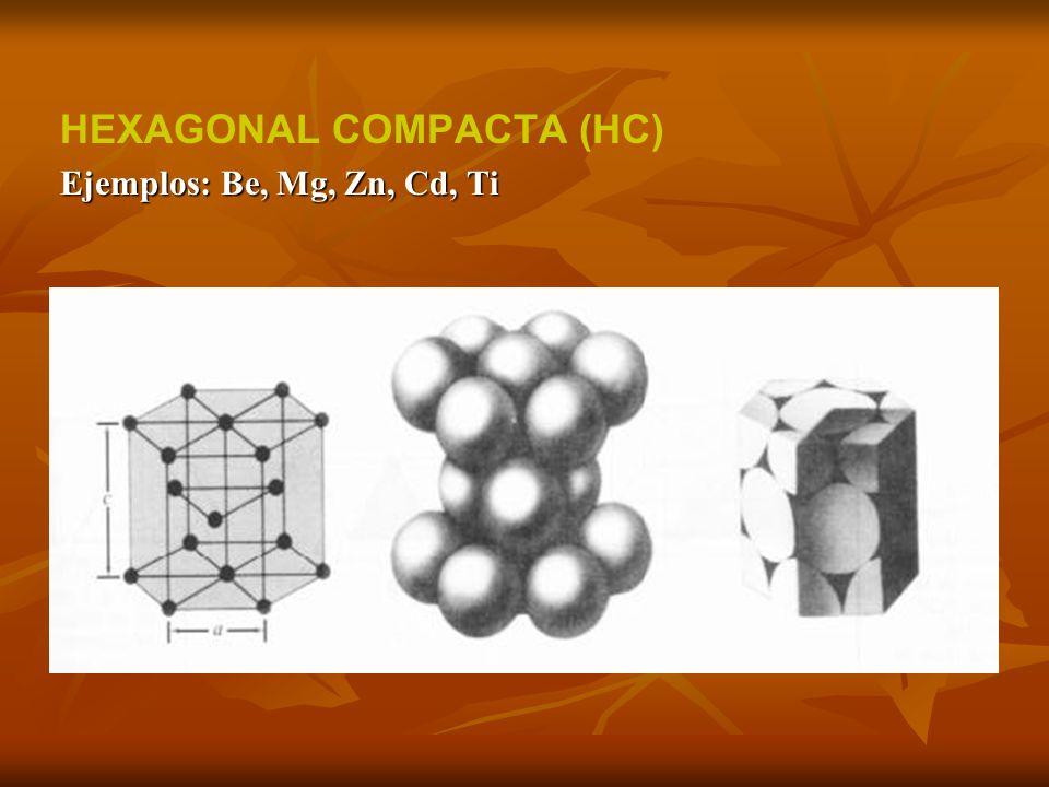 HEXAGONAL COMPACTA (HC)