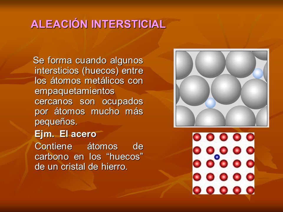 ALEACIÓN INTERSTICIAL