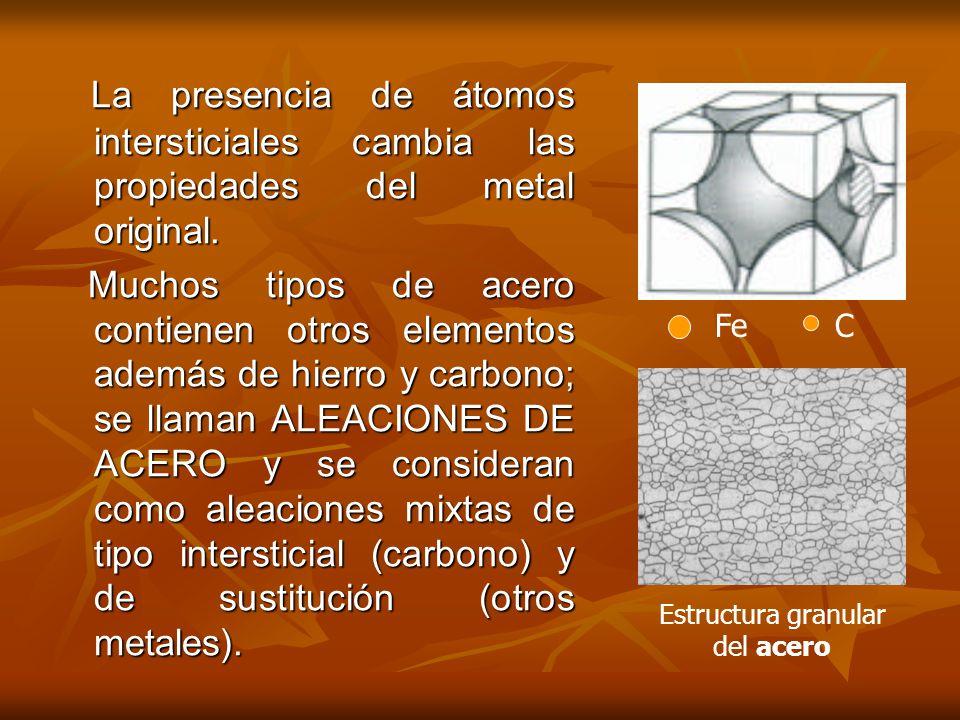 Estructura granular del acero