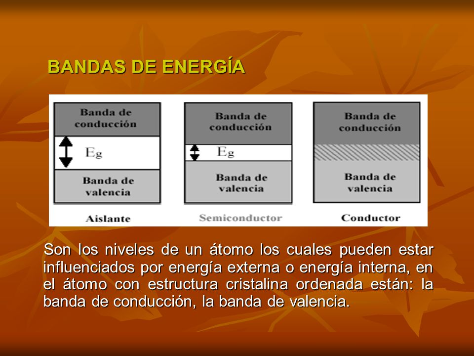 BANDAS DE ENERGÍA