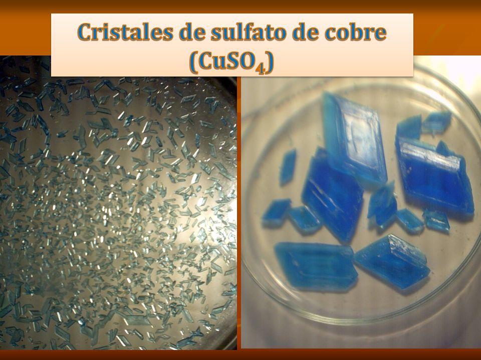 Cristales de sulfato de cobre (CuSO4)