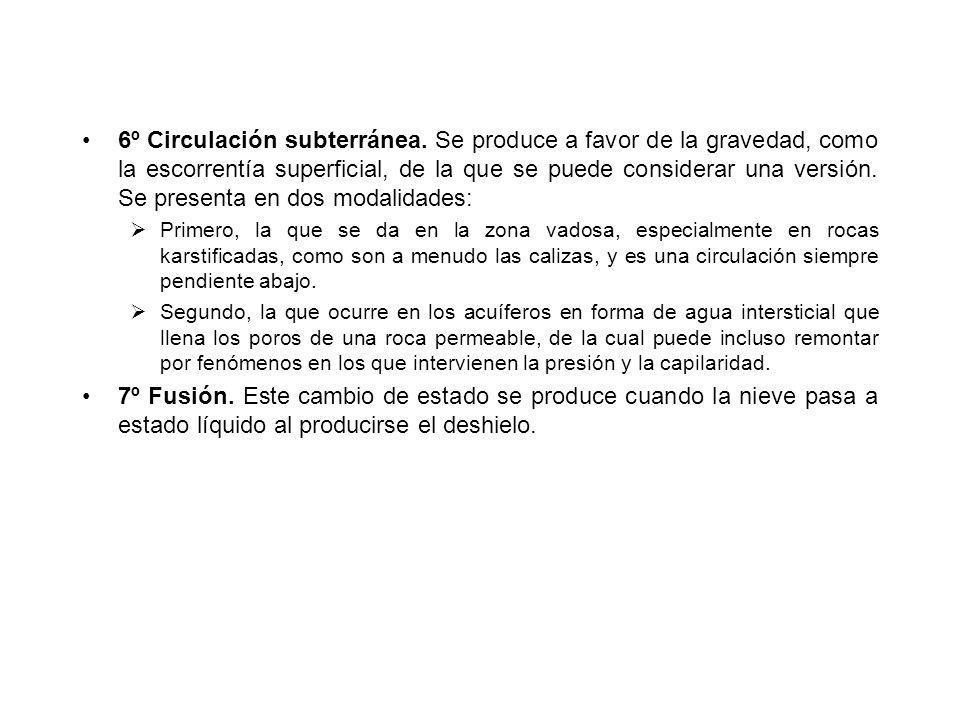 6º Circulación subterránea