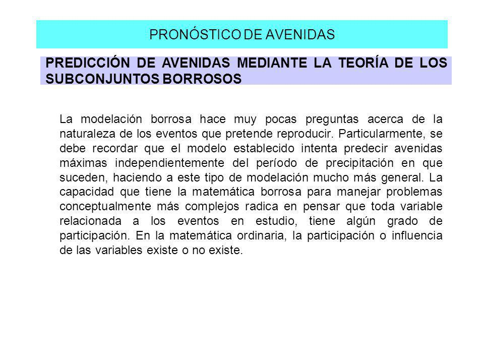 PRONÓSTICO DE AVENIDAS
