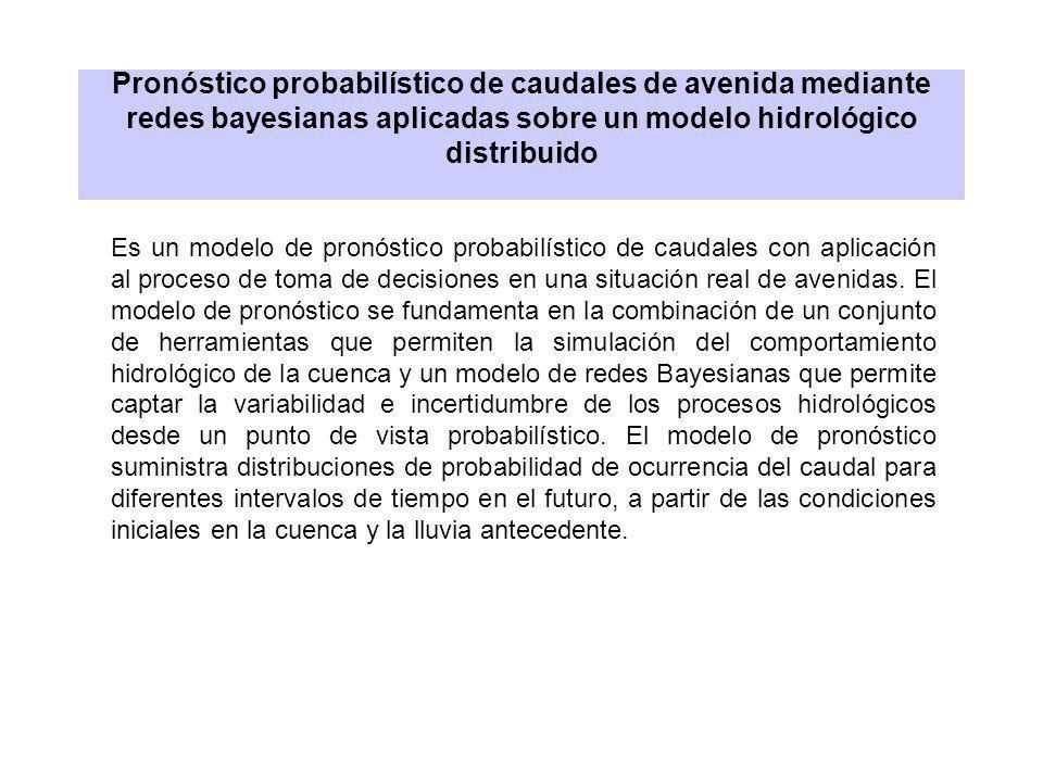 Pronóstico probabilístico de caudales de avenida mediante redes bayesianas aplicadas sobre un modelo hidrológico distribuido