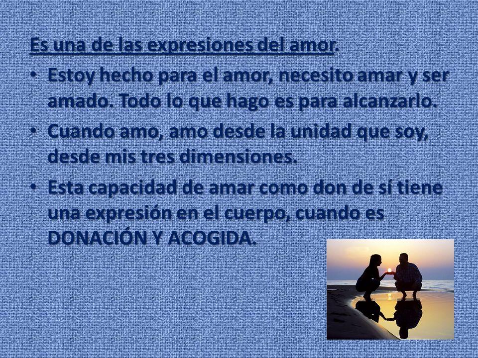 Es una de las expresiones del amor.