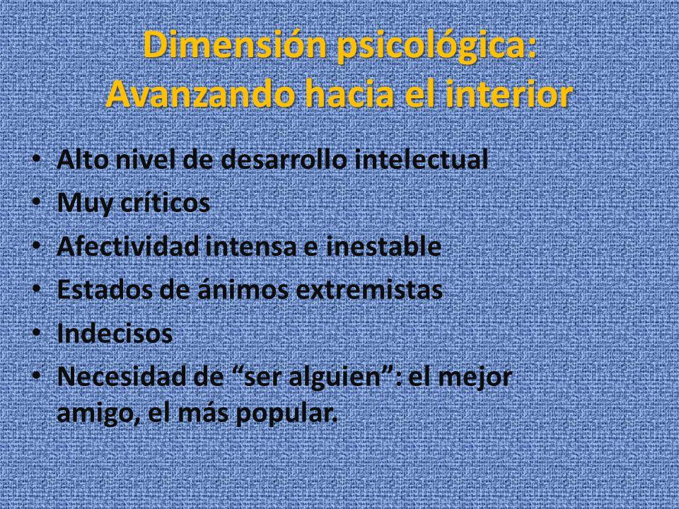 Dimensión psicológica: Avanzando hacia el interior