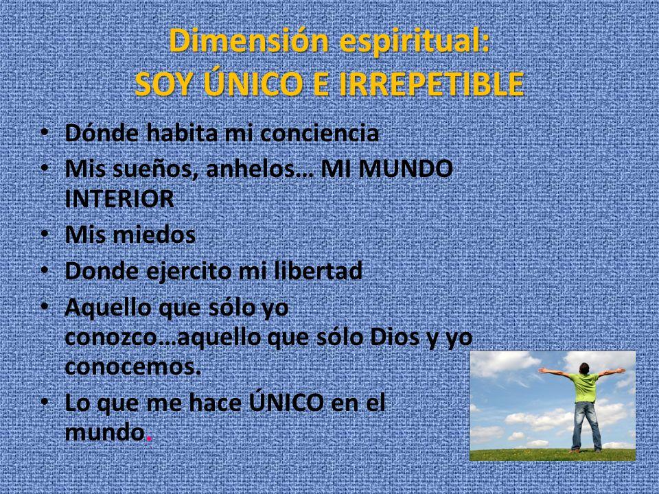 Dimensión espiritual: SOY ÚNICO E IRREPETIBLE