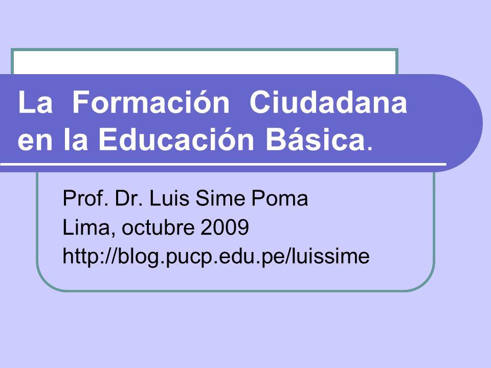 La Formación Ciudadana en la Educación Básica.