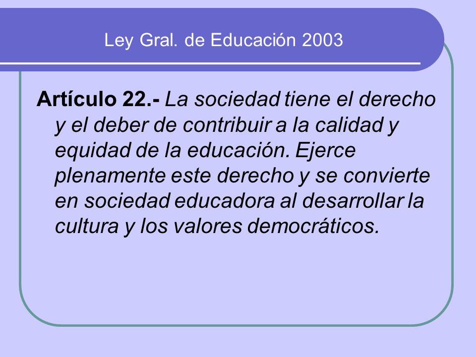 Ley Gral. de Educación 2003