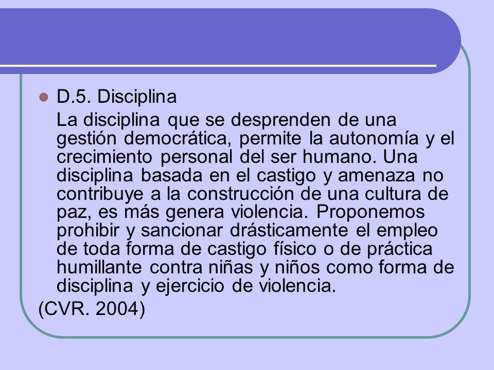 D.5. Disciplina