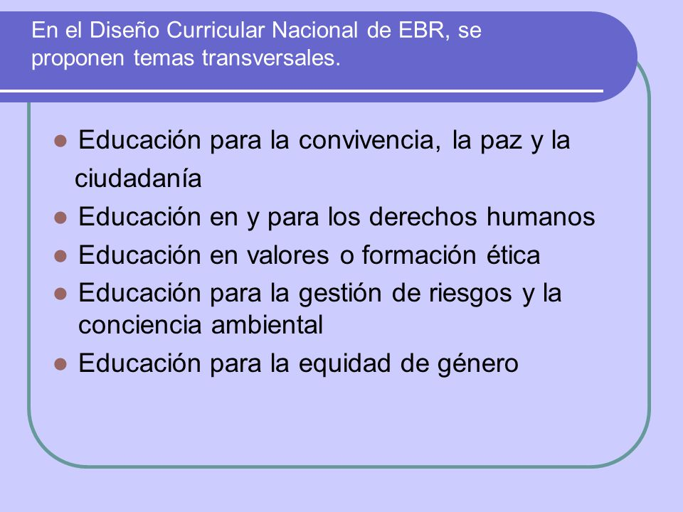 Educación para la convivencia, la paz y la ciudadanía