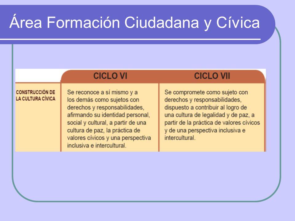 Área Formación Ciudadana y Cívica