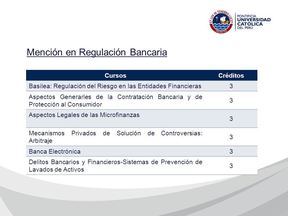 Mención en Regulación Bancaria