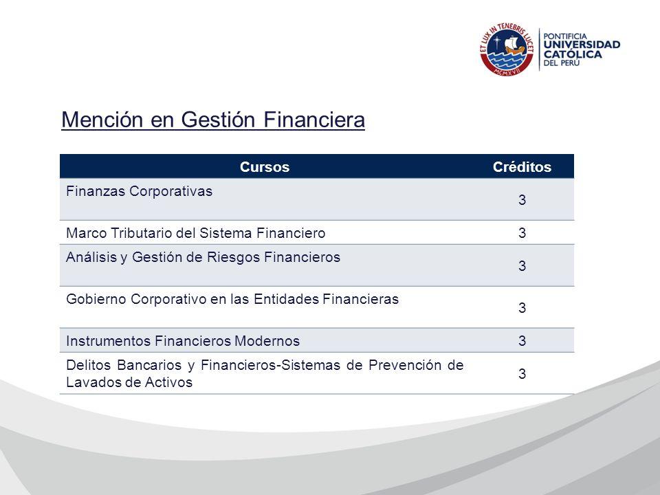 Mención en Gestión Financiera