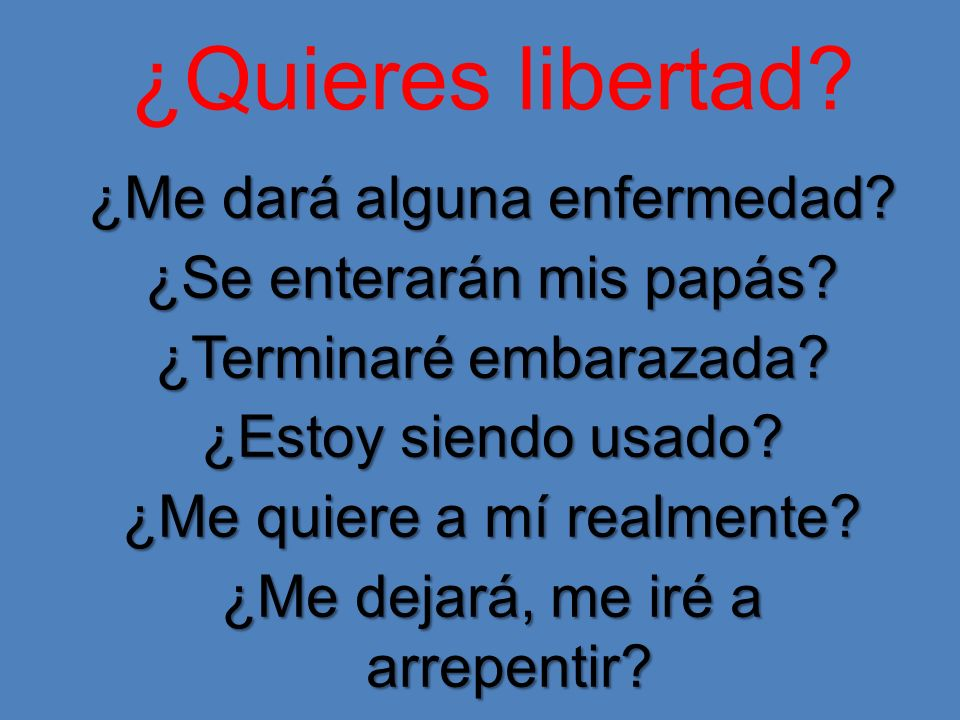 ¿Quieres libertad