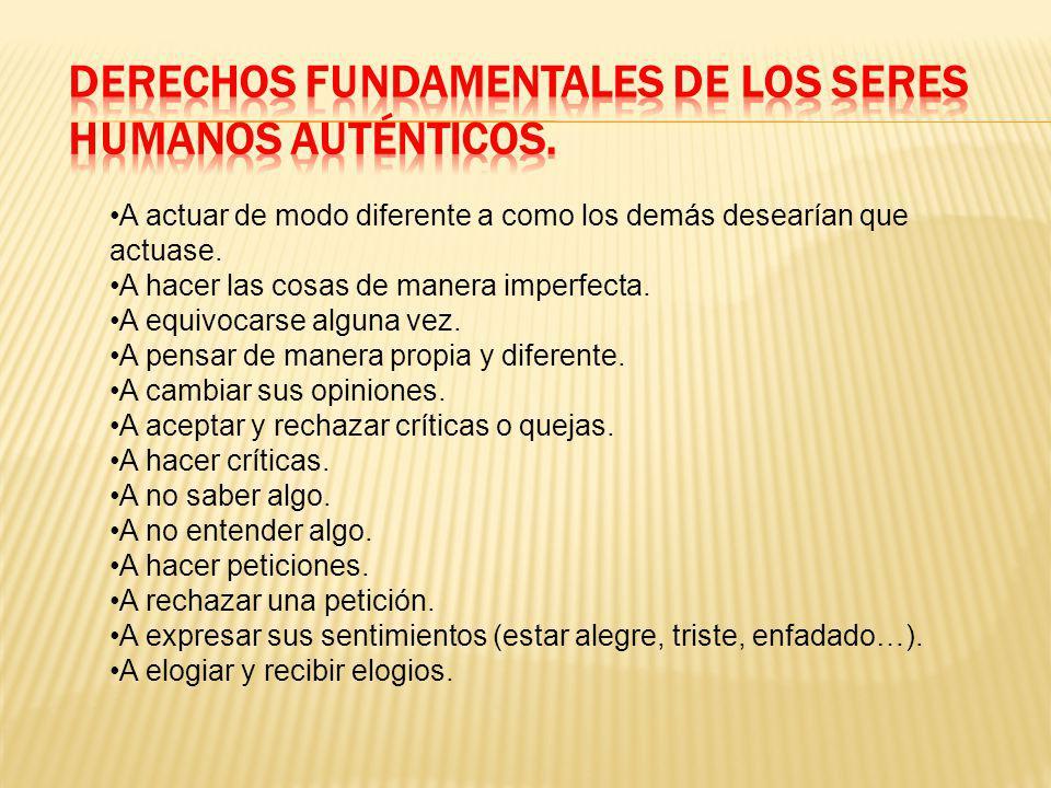 DERECHOS FUNDAMENTALES DE LOS SERES HUMANOS AUTÉNTICOS.