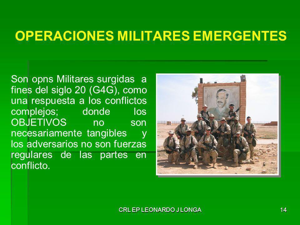 OPERACIONES MILITARES EMERGENTES
