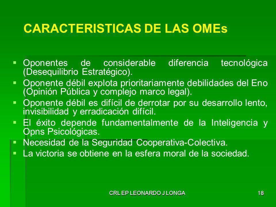 CARACTERISTICAS DE LAS OMEs
