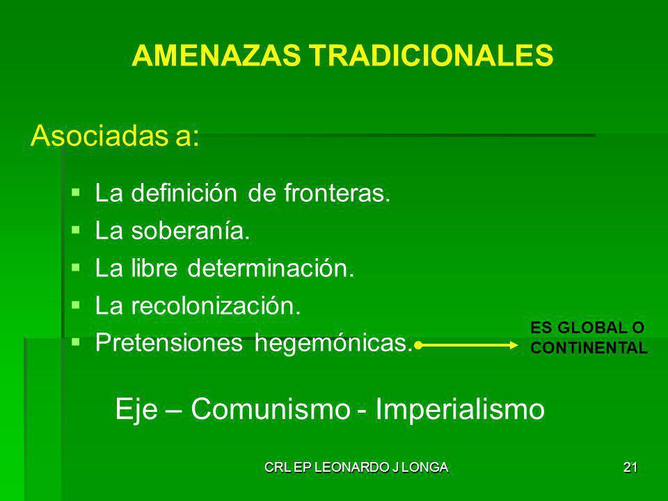 AMENAZAS TRADICIONALES