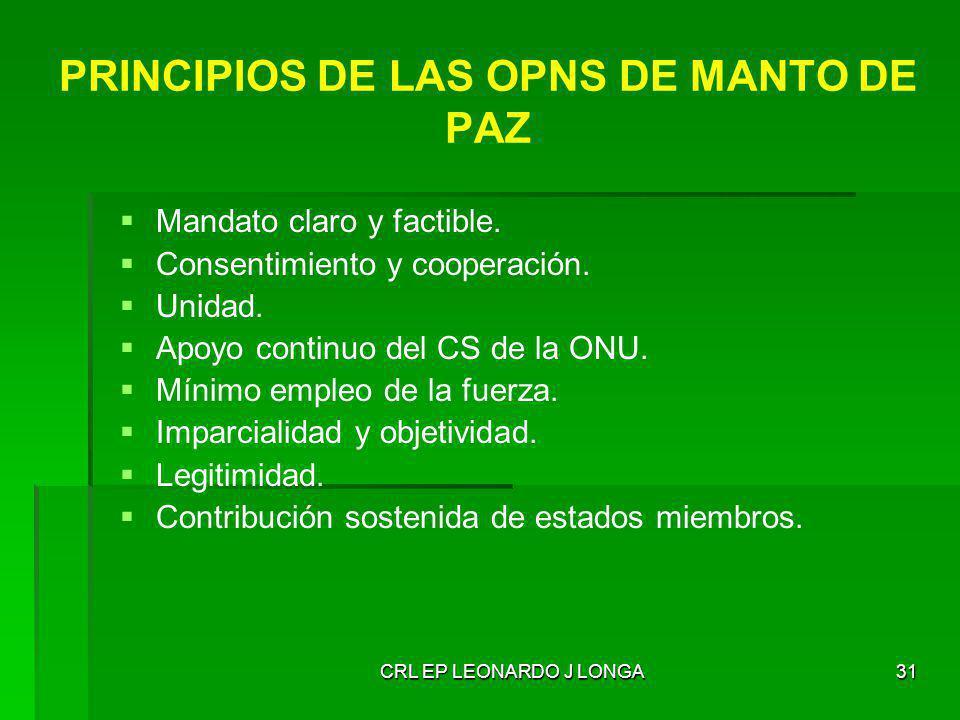 PRINCIPIOS DE LAS OPNS DE MANTO DE PAZ
