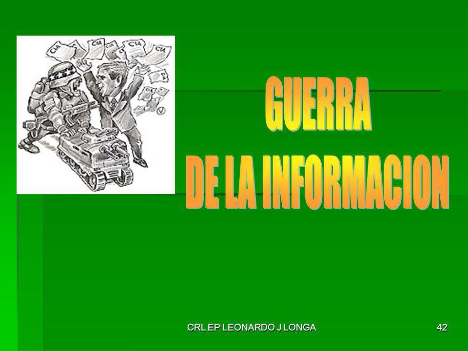 GUERRA DE LA INFORMACION CRL EP LEONARDO J LONGA