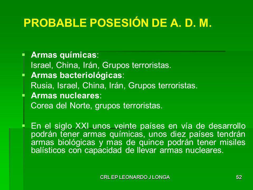 PROBABLE POSESIÓN DE A. D. M.