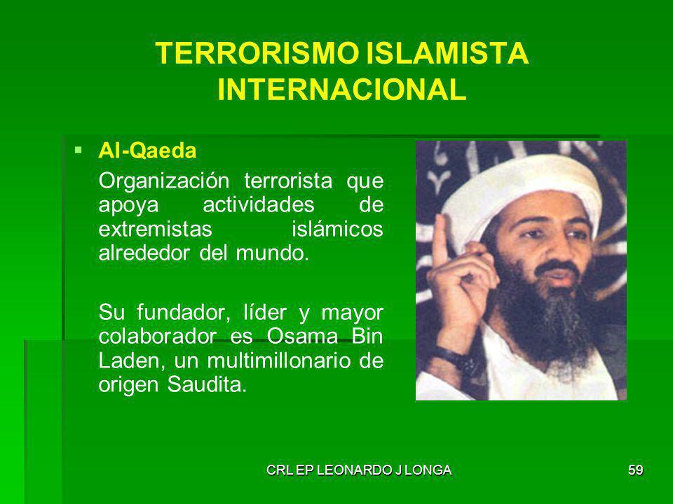 TERRORISMO ISLAMISTA INTERNACIONAL