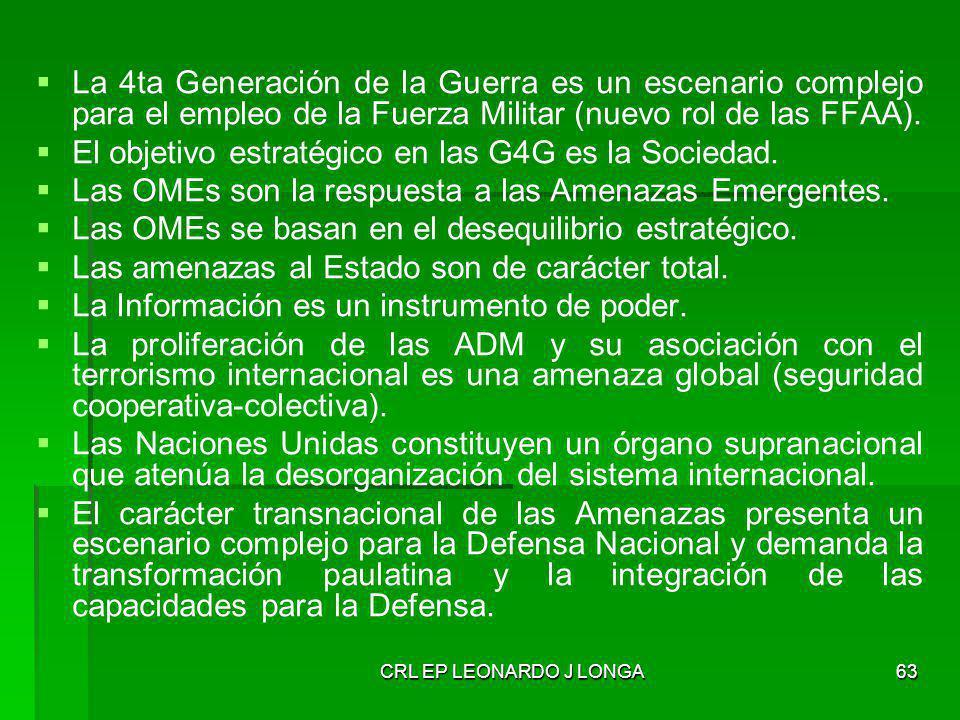 El objetivo estratégico en las G4G es la Sociedad.