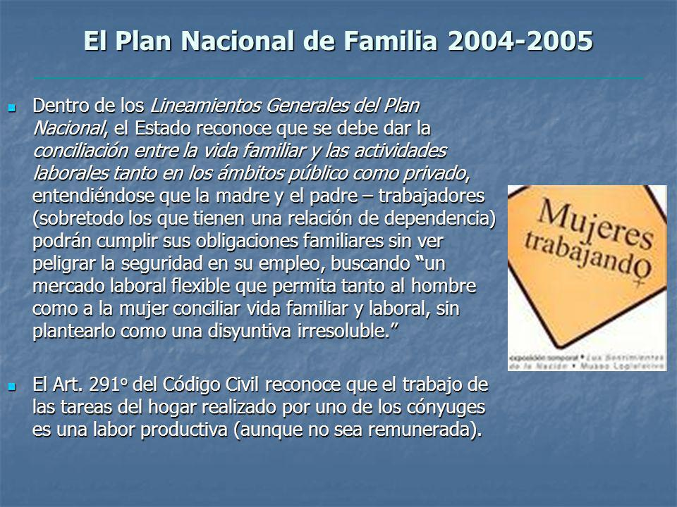 El Plan Nacional de Familia 2004-2005