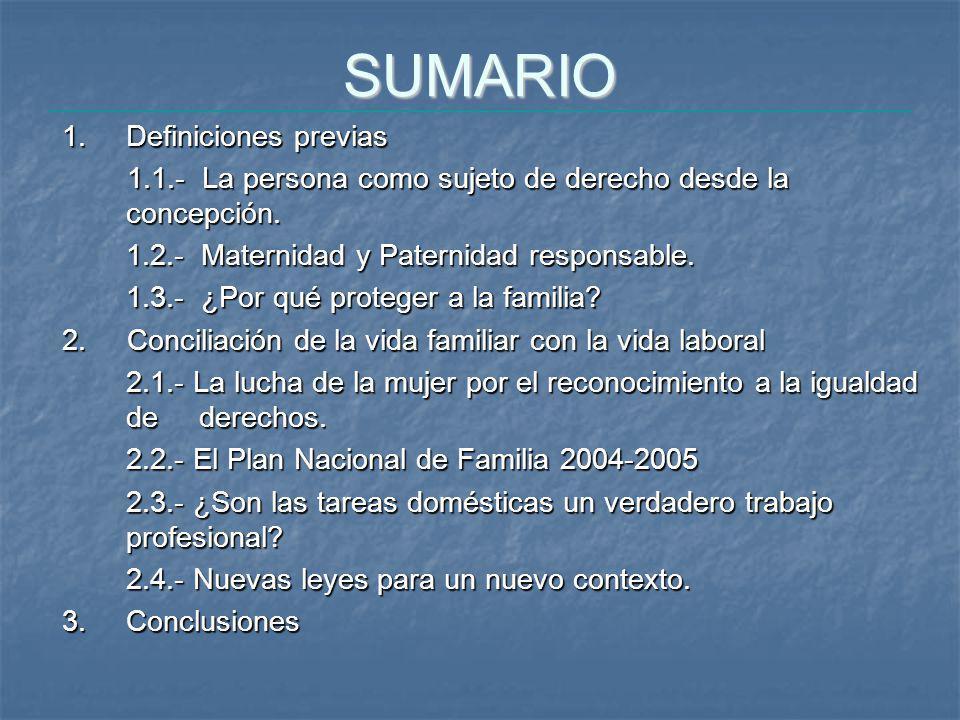 SUMARIO 1. Definiciones previas