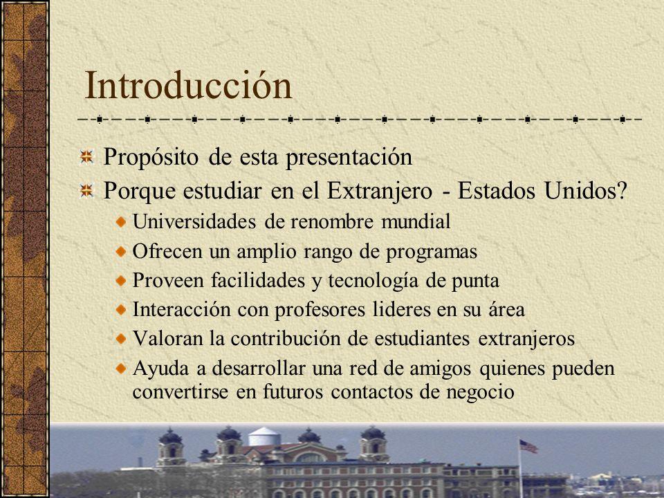 Introducción Propósito de esta presentación