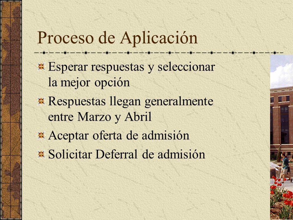 Proceso de Aplicación Esperar respuestas y seleccionar la mejor opción