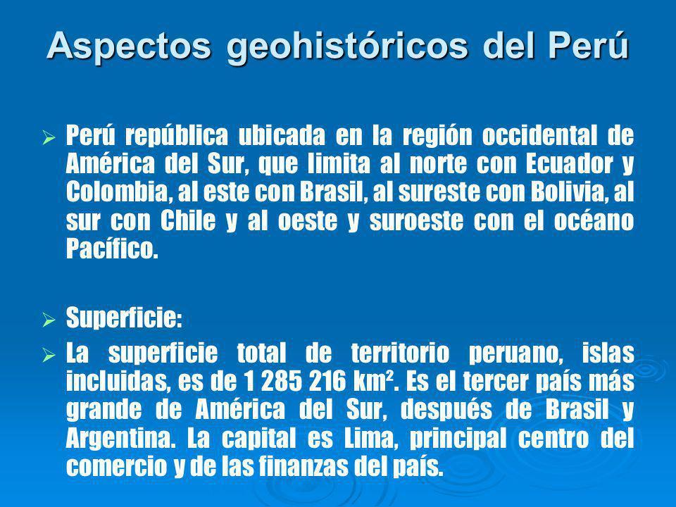 Aspectos geohistóricos del Perú