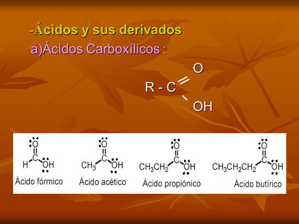-Ácidos y sus derivados