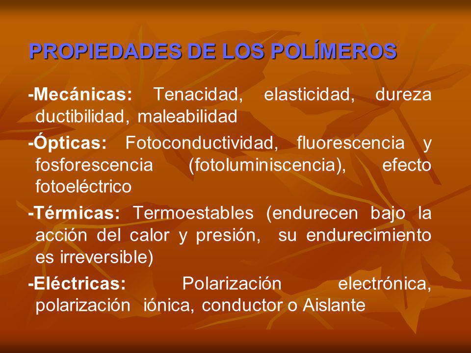 PROPIEDADES DE LOS POLÍMEROS