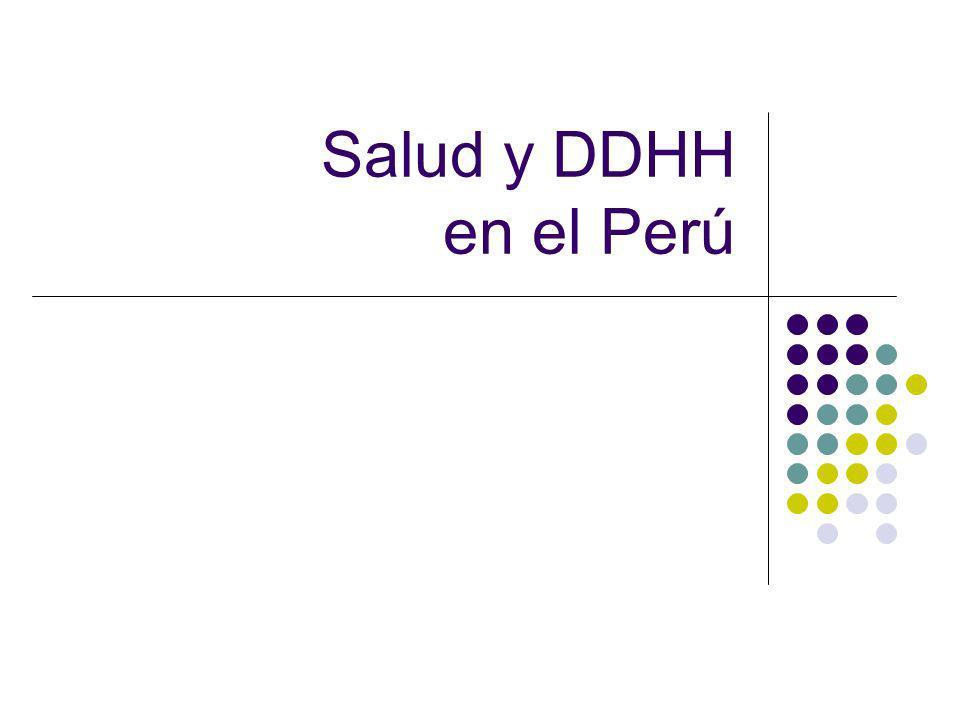 Salud y DDHH en el Perú
