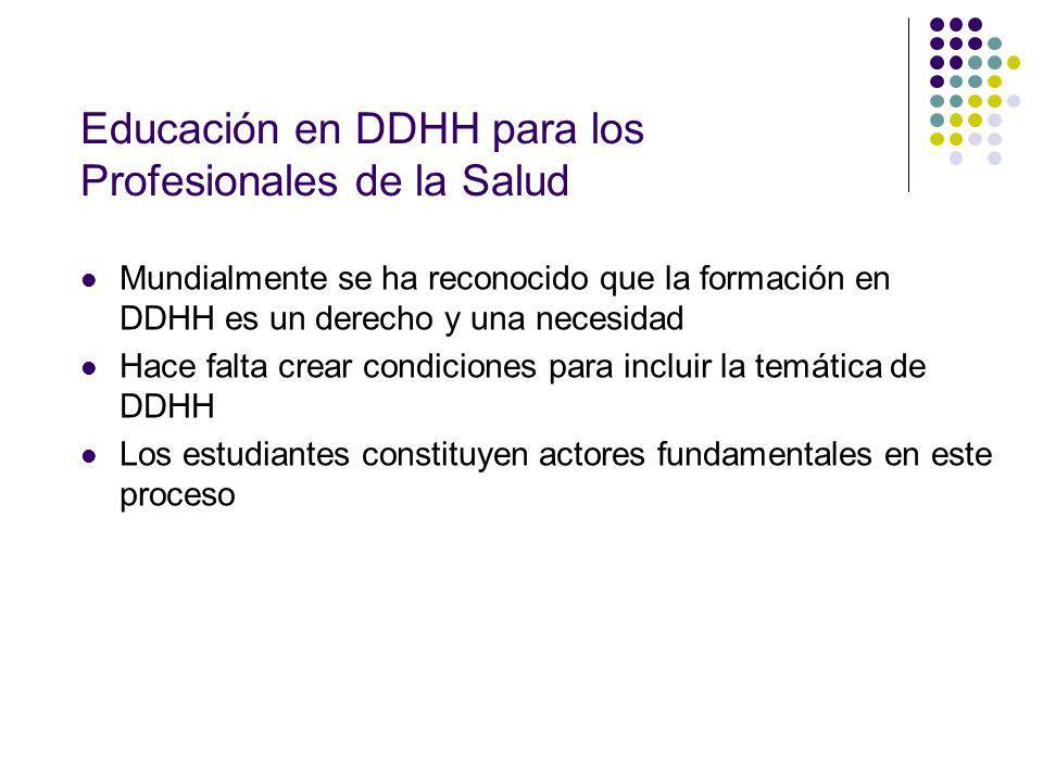 Educación en DDHH para los Profesionales de la Salud