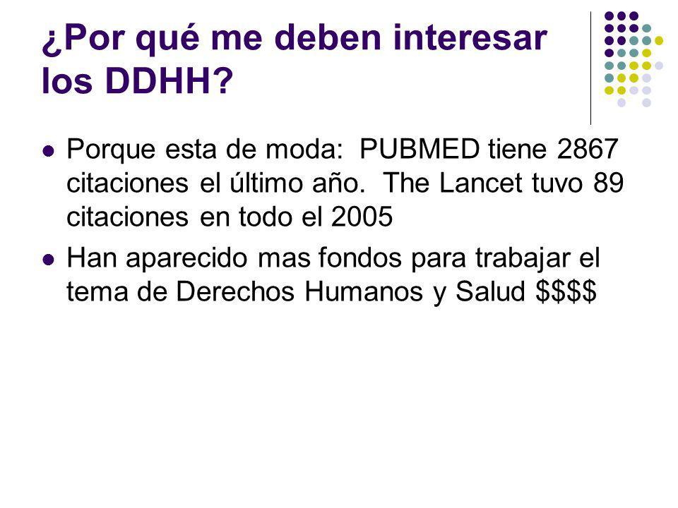 ¿Por qué me deben interesar los DDHH
