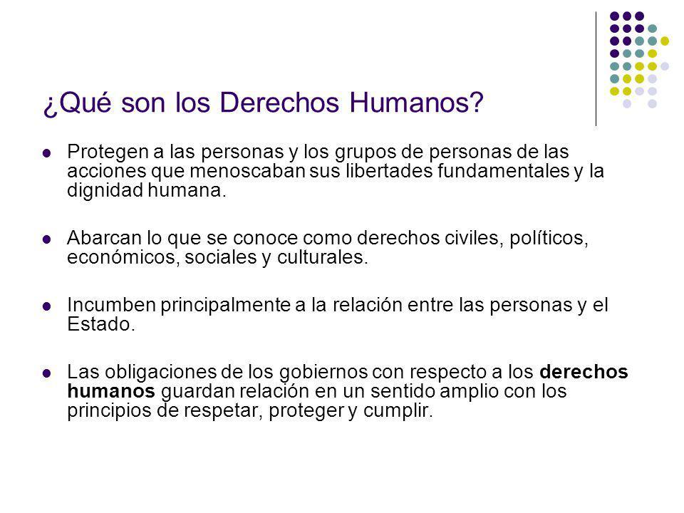 ¿Qué son los Derechos Humanos