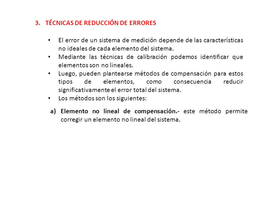 3. TÉCNICAS DE REDUCCIÓN DE ERRORES