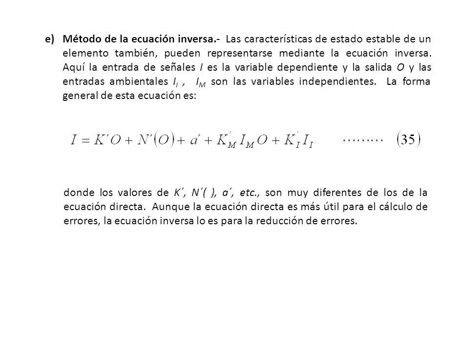 e). Método de la ecuación inversa
