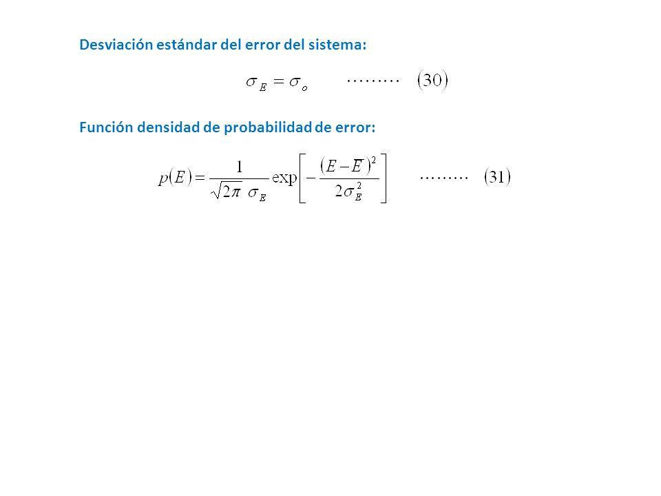 Desviación estándar del error del sistema: